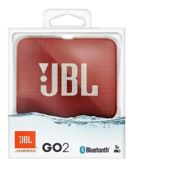 Caixa de Som Bluetooth JBL Go 2 À Prova D'água Vermelha - JBL G02 BLK RED