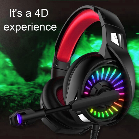 Headset Gamer com Microfone para Ps4 X-One Led P2 3.5mm Vermelho Lehmox - LEF-1052