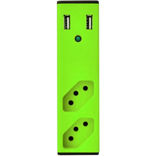 Filtro de Linha com Carregador USB Bem Ligado - Verde