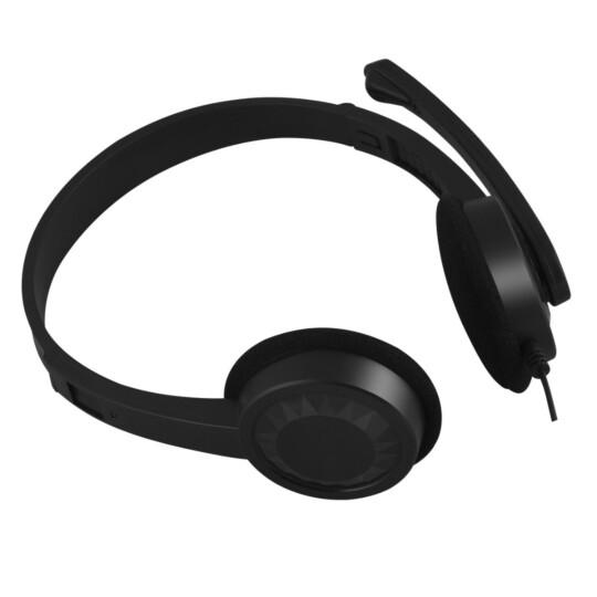 Fone de Ouvido Headset C3Tech com Microfone Preto - PH-02BK
