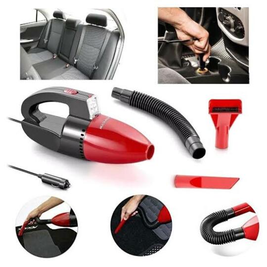 Aspirador de Pó Automotivo 1500pa 12v 60w Função Solido e Liquido Com Mangueira Vermelho Multilaser - AU607