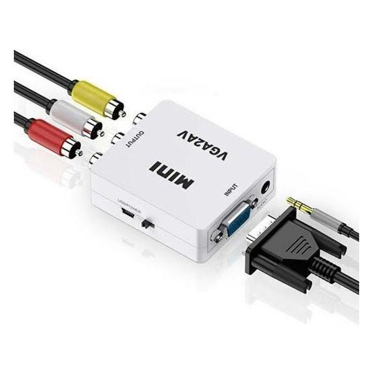 Conversor Entrada VGA para Saida AV RCA 1080p Real Exbom - 03035