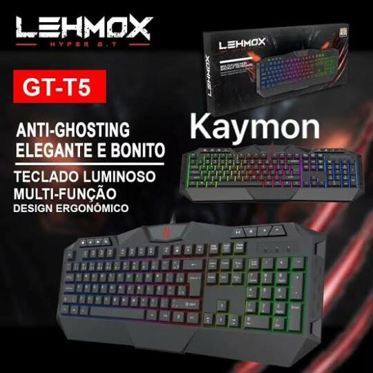 Teclado Gamer Multifuncional ABNT Anti-ghosting Led RGB LEHMOX - GT-T5