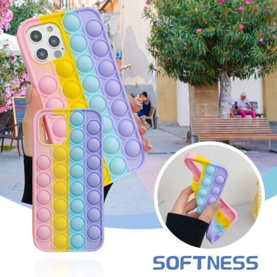 Capa para Iphone 12 Pro Anti Stress Silicone Flexível Pop It - 12PRO