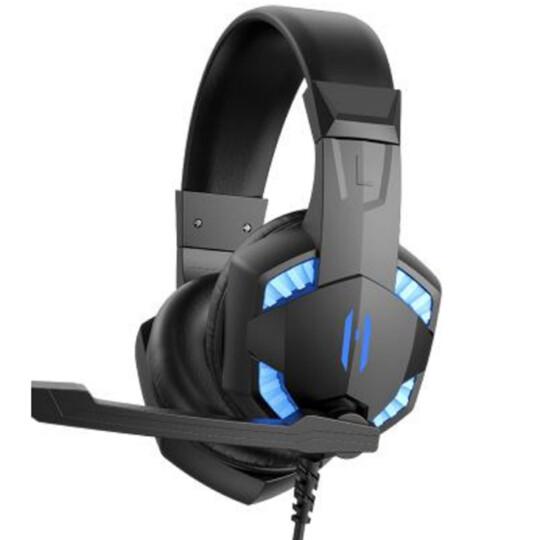 Headset Gamer com Microfone e iluminação Led Azul Lehmox - GT-F6