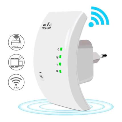 Repetidor de Sinal Amplificador Wireless Wifi 300mbps LEHMOX - LEY-72