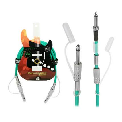 Cabo de Áudio P10 Mono - P10 + P10 Colorido Verde 5 Metros Chipsce - 018-0086
