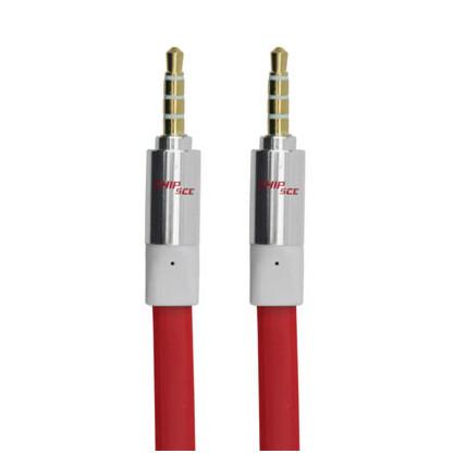 Cabo Auxiliar P2+P2 Premium Estéreo Flat Vermelho - 3 Metros Chipsce - 018-5795