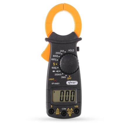 Alicate Amperímetro Digital 600V Com 2 Pontas de Prova - KP-AA001