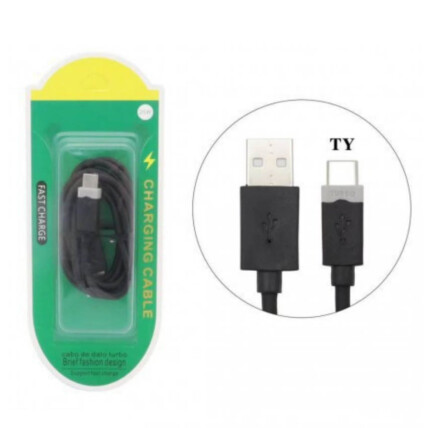 Cabo de Dados Type C Turbo USB com 1 Metro - KAP-318-TY