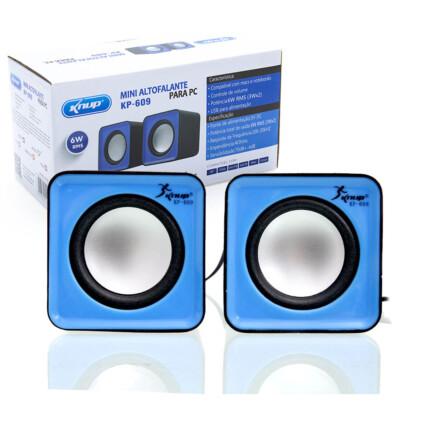 Mini Caixa de Som para Computador Usb P2 Knup - KP-609