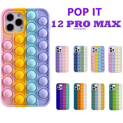 Capa para Iphone 12 Pro Max Anti Stress Silicone Flexível Pop It - 12PRO MAX