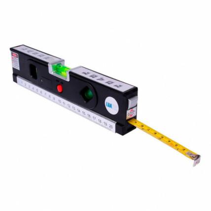 Nível a Laser com 3 Linhas e Trena Luatek - LWJ-109
