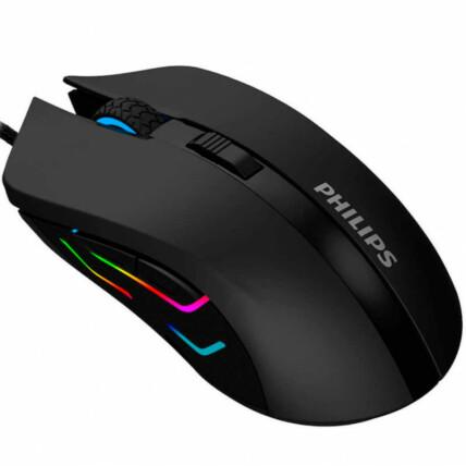 Mouse Gamer Com Fio Philips Óptico Com DPI Ajustável Até 2400 - G313/SPK9313