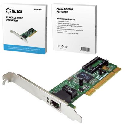 Placa de Rede PCI 10/100 Mbps LOTUS - LT-P266