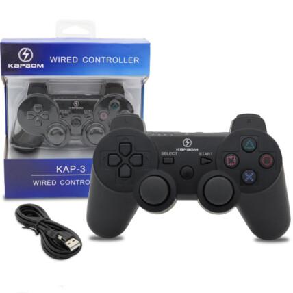 Controle com Fio para Ps3 Dualshock Joystick - KAP-3