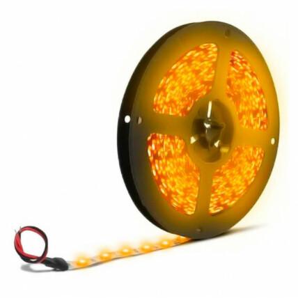 Fita de Led Amarelo Âmbar 5 Metros 12V 4.8W Bivolt Lux Power - 3528AM