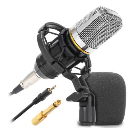 Microfone Condensador Unidirecional 20 kHz Knup - KP-M0021