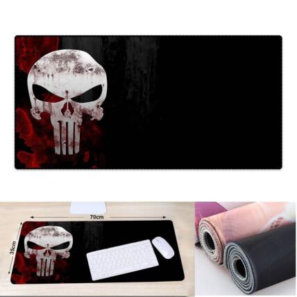 Mouse Pad Gamer Extra Grande Bandeira do Crânio 700x350x3mm Exbom - MP7035C21