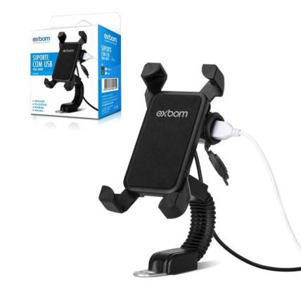 Suporte de Smartphone para Motos para Retrovisor 4.5 a 7.5 Polegada Exbom - SP-CA55