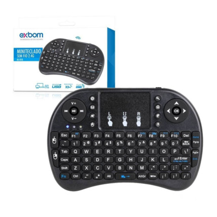 Mini Teclado Com Touchpad Wireless 2.4g Bateria de Litio Exbom - BK-BTI8