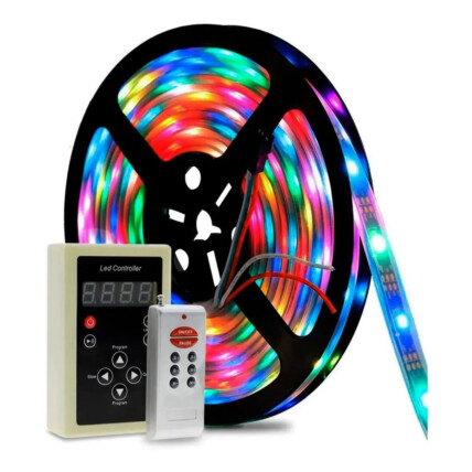Fita de LED Digital 6803 RGB com Controle - LEHMOX - LEY-6803