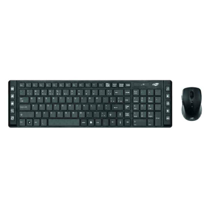 Kit Teclado e Mouse Sem Fio com Teclas Multimídia C3Tech - K-W50BK