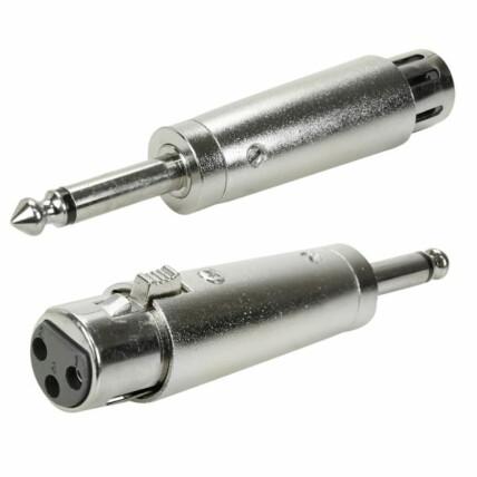 Adaptador P10 Mono para XLR Fêmea Cannon- Metálico - 003-8610