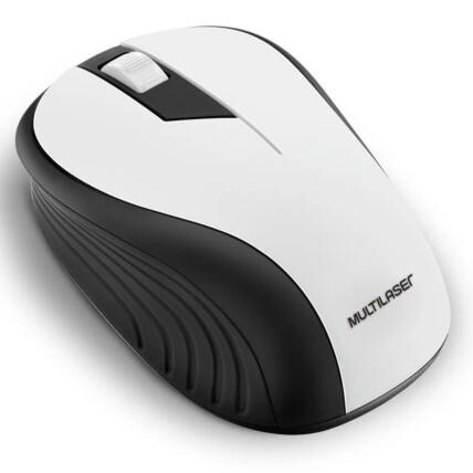 Mouse Sem Fio Wireless 2.4ghz Usb Preto/Branco Multilaser - MO216