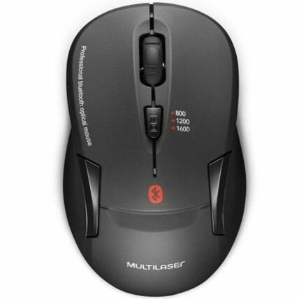 Mouse sem Fio Bluetooth 1600 dpi Preto Multilaser - MO254
