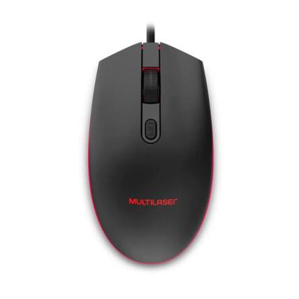 Mouse Gamer Usb 2400dpi com Led 7 Cores - Preto Multilaser - MO298