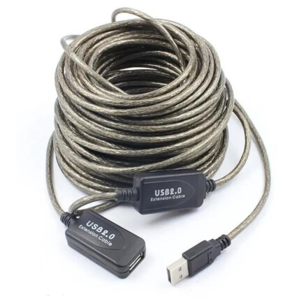 Cabo Extensor Usb 2.0 com 15 Metros Macho + Fêmea - LT-USB 015