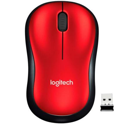 Mouse Sem Fio Logitech Mini Rc/nano 1000 dpi - M185 VERMELHO