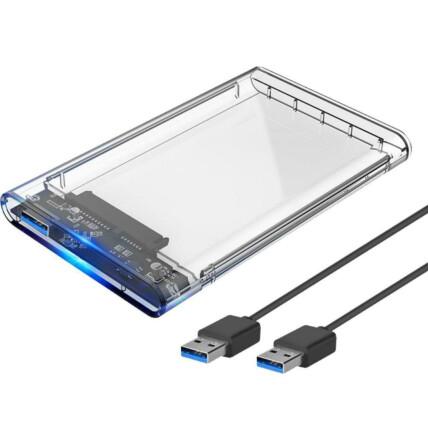 Case Transparente Gaveta para HD Externo 2.5 SATA USB 3.0 KNUP - KP-HD012