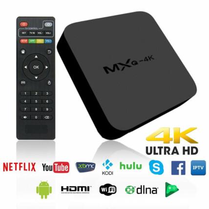 Smart Tv Box 4k Android H.265 Ultra Hd 8 GB + 128 GB 5G Wi-fi Netflix Youtube 60FPS - MXQ