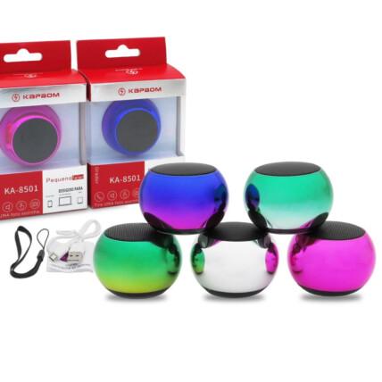 Mini Caixa de Som Bluetooth 3W Colorida - KA-8501