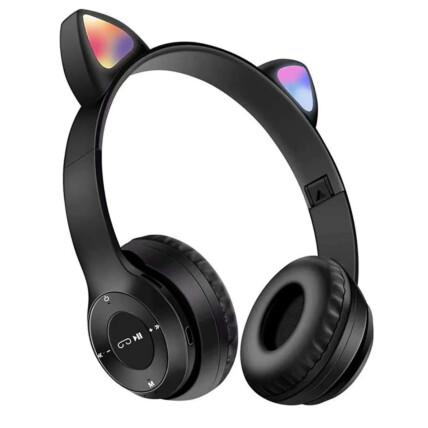 Fone de Ouvido Bluetooth Orelha de Gatinho com Led RGB Lehmox - LEF-950