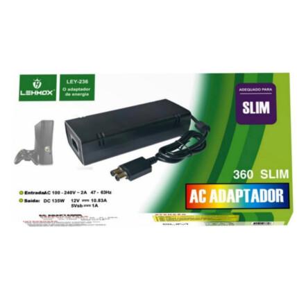 Fonte de Alimentação para X360 Slim Bivolt Lehmox - LEY-236