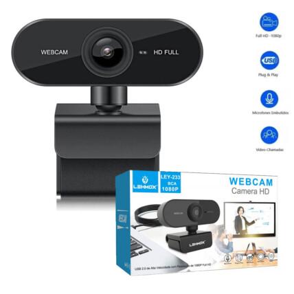 Webcam Full Hd 1080p Usb Câmera Stream de Alta Resolução e Microfone - LEY-233