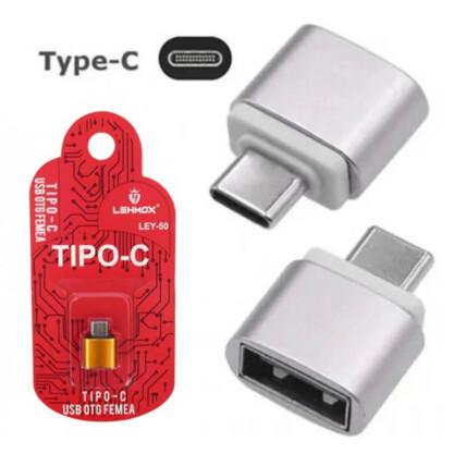 Adaptador OTG Type C x Usb para Smartphones - LEY-50