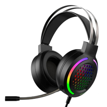 Fone Headset Gamer com Microfone e Led RGB 2 P2 + Usb - G12