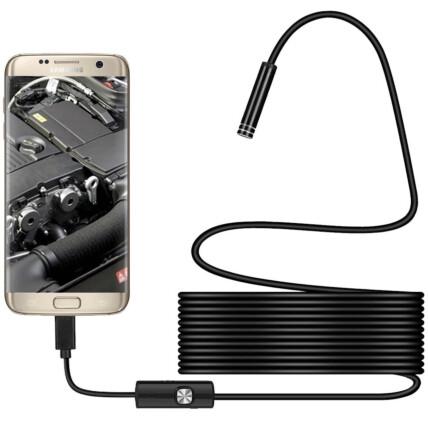 Câmera de Endoscopia Inspeção com Led Boroscópio para Celular e PC - NKJ-2M