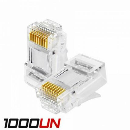 1000 Unidades de Conector Rj45 Cat5 Dex