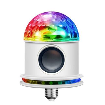 Lâmpada com Caixa de Som Bluetooth 6W Luz LED Colorida - LT-CT022