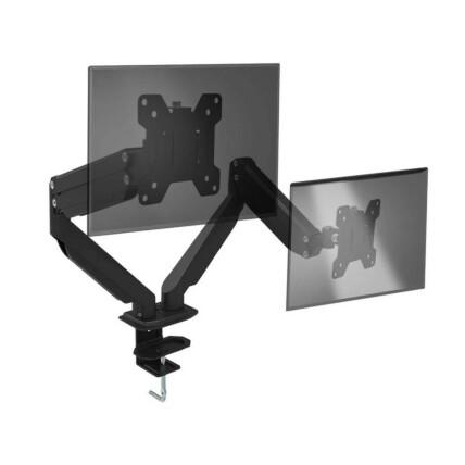 """Suporte de Mesa Articulado Duplo para Monitor 17"""" até 32"""" com Ajuste de altura e Pistão à gás Multilaser - AC372"""