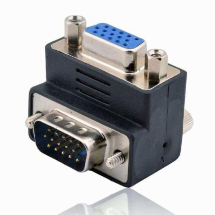 Adaptador VGA M/F 90 Graus 15 Pinos PC Notebook Projetor EXBOM - 03122