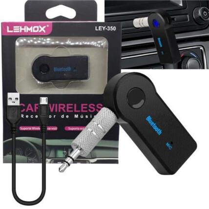 Adaptador Receptor Bluetooth Veicular Aux P2 - LEY-350