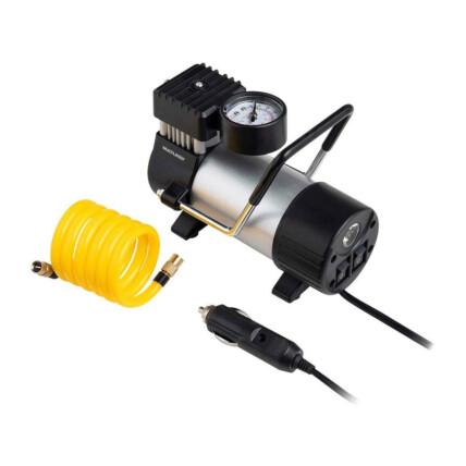 Compressor de Ar Automotivo Multilaser 12V Cilindro Metálico 25L/min 150 PSI com Bicos e Lanterna Integrada - AU616