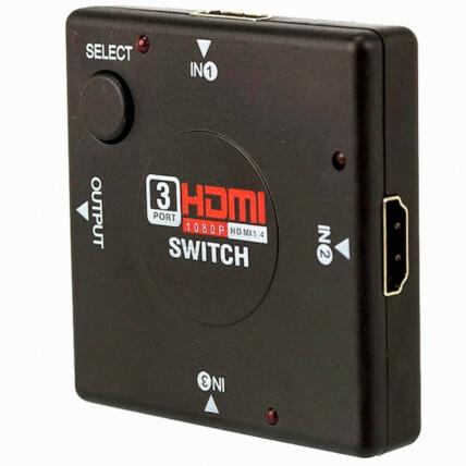 Switch Hdmi com 3 Entradas e 1 Saída Exbom - 0531