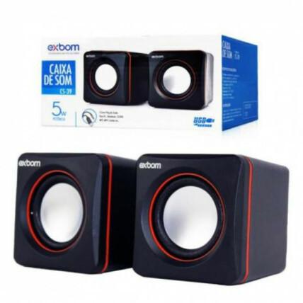 Caixa de Som para Notebook PC e Smartphone 2.0 4w RMS Exbom - CS-39